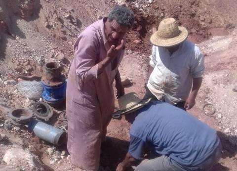 استكمال توصيل المياه للمنطقة الحرفية وتقسيمات الشباب في الوادي الجديد