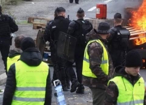 """مواجهات عنيفة بين متظاهري """"السترات الصفراء"""" والشرطة الفرنسية بباريس"""