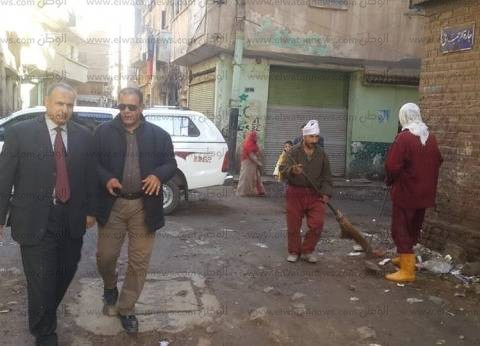 بالصور| رئيس مدينة دسوق يتابع أعمال النظافة بحي شمال وجنوب