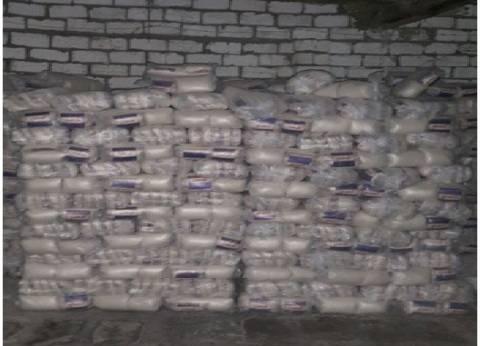 ضبط طن سكر مخزن داخل مصنع بالإسكندرية