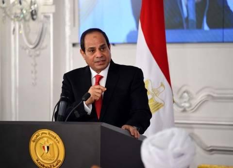 """""""الرئاسة"""": السيسي ناقش جهود إزالة التعديات مع كبار رجال الدولة"""