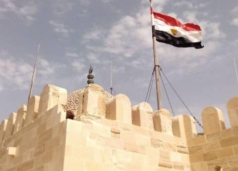 حملة لإزالة الإشغالات بمنطقة قلعة قايتباي في الإسكندرية