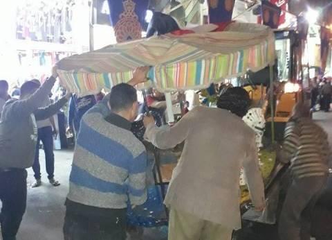 حي الجمرك بالإسكندرية يشن حملة لإزالة التعديات