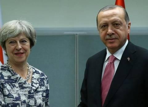 "أردوغان و""ماي"" يبحثان هاتفيا التطورات في سوريا"