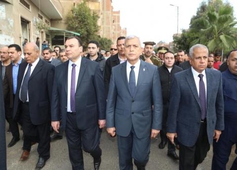 بالصور| محافظ المنوفية يتقدم جنازة مساعد مدير أمن المنيا