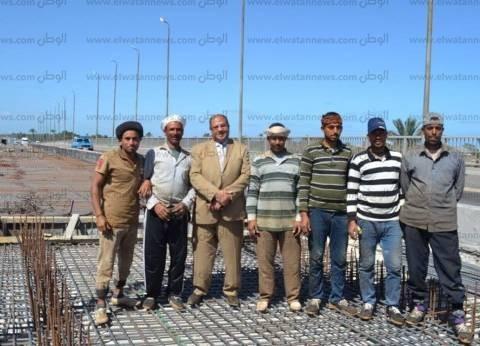 بالصور| رئيس مدينة بلطيم: انتهاء 70% من ترميم كوبري الحماد في البرلس