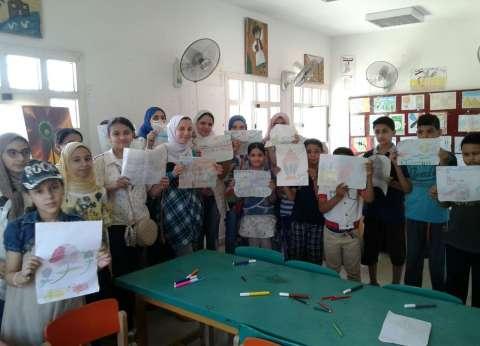 ورشة للفن التشكيلي بقصر ثقافة نجيب سرور احتفالا بثورة 30 يونيو