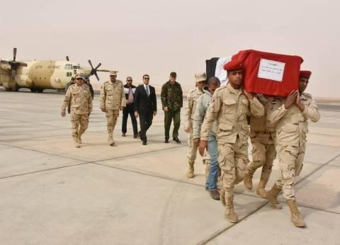 محافظ أسيوط يستقبل جثمان شهيد الواجب بسيناء بمطار أسيوط الدولي