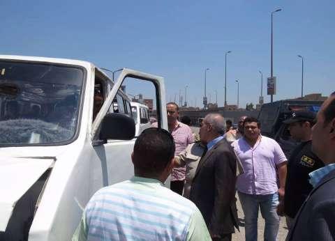 مدير أمن بني سويف يتفقد المواقف لمتابعة التزام السائقين بتعريفة الركوب