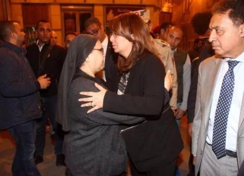 غادة والي: لا شيء يعوض خسارة الأرواح.. والبابا تواضروس صلى لمصر