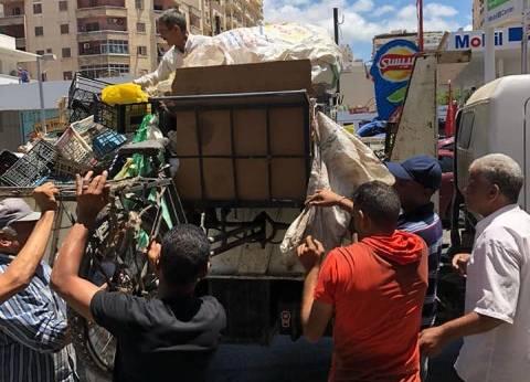 حي شرق بالإسكندرية يشن حملة لإزالة إشغالات الطريق العام