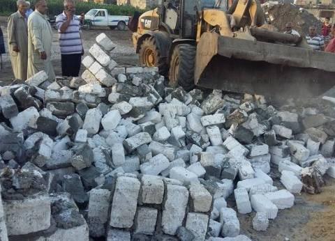 أمن كفر الشيخ ينفذ 23 قرار إزالة تعديات على الأراضي الزراعية