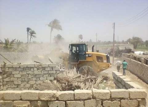 حملة لإزالة التعديات المخالفة ببرج العرب في الإسكندرية