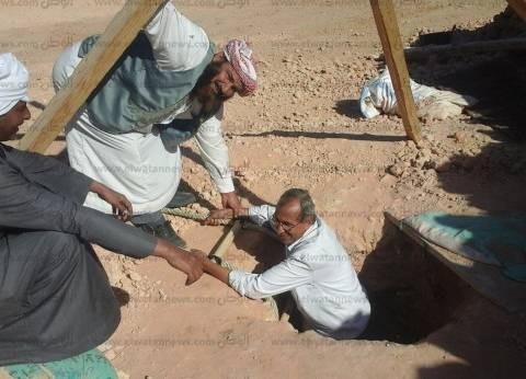 إنشاء 20 بئرا لتخزين مياه الأمطار بنجوع مطروح لأسر ضحايا الألغام