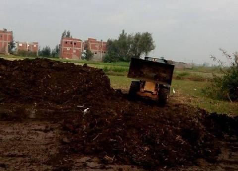 بالصور| إزالة تعديات على الأراضي الزراعية بمدينة ميت أبوغالب في دمياط