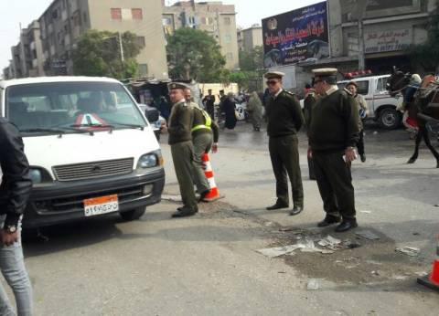 """""""مرور القاهرة"""" تدفع بالأوناش لرفع الأعطال بأماكن الكثافات المرورية"""