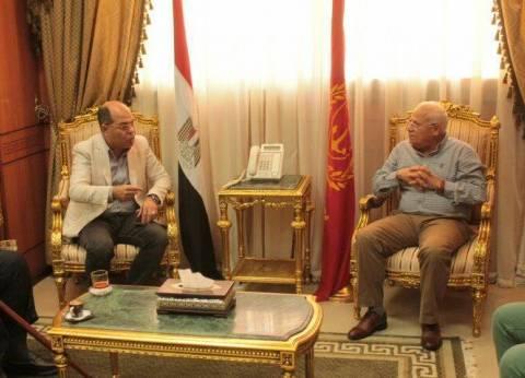 محافظ بورسعيد يفتتح أعمال تطوير مقر المديرية المالية