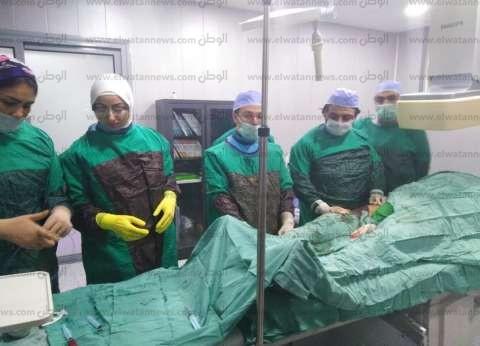 توقيعالكشف الطبي على 65 حالة بقسم القسطرة بمستشفى العريش