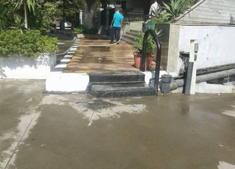 حملات بالمعادي لمنع إهدار مياه الشرب في رش الشوارع