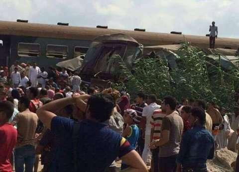 وزير النقل يتفقد موقع حادث القطارين ويأمر برفع الحطام وإعادة الحركة