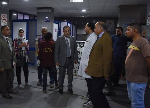 محافظ الإسكندرية يجري جولة مفاجئة لمستشفى أبو قير