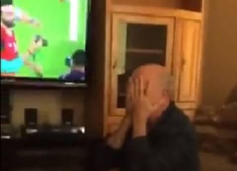 بالفيديو| رد فعل عجوز مصري في الولايات المتحدة بعد تأهل مصر للمونديال