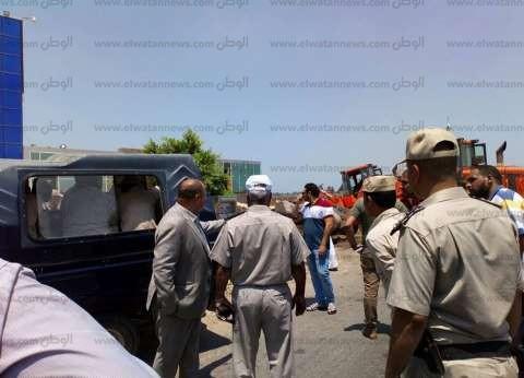 """""""أمن كفر الشيخ"""" ينفذ 27 قرار إزالة تعديات على الأراضي الزراعية"""