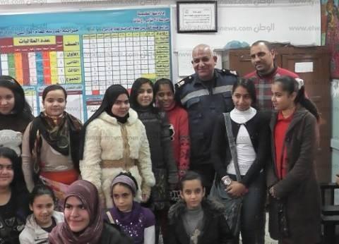 بالصور| ندوة حول الحماية المدنية في مدرسة 25 يناير ببنها