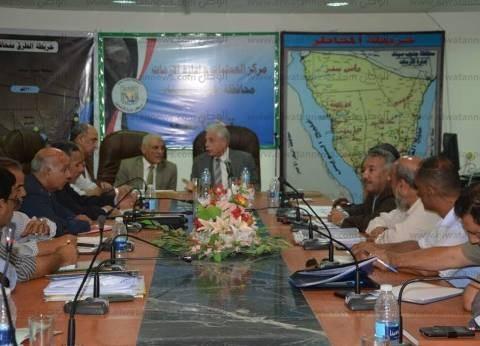 بالصور| محافظ جنوب سيناء يتابع المشروعات والأنشطة بالاجتماع النصف شهري