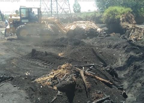 بالصور| إزالة مكامير فحم على مساحة 2500 متر في دمياط