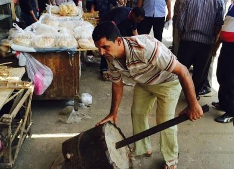 حملة لإزالة الإشغالات في حي المنتزه بالإسكندرية
