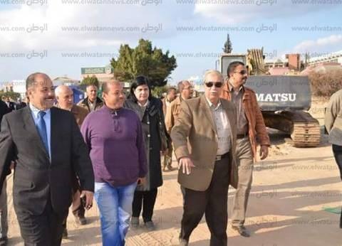 محافظ الإسماعيلية يتفقد أعمال مشروع نفق المشاة أمام جامعة قناة السويس