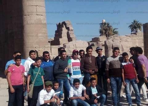 بالصور| طلائع جنوب سيناء في زيارة لمعابد الأقصر وأسوان
