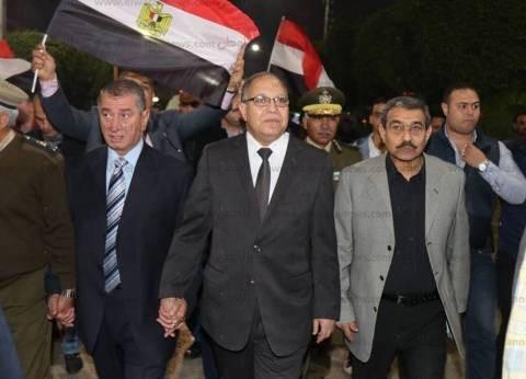 بالصور| محافظ كفر الشيخ ومدير الأمن يشاركان المواطنين الاحتفالات