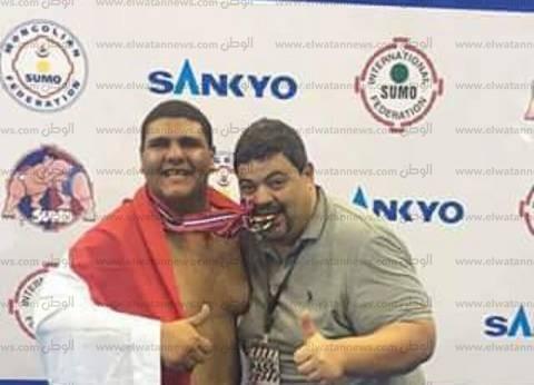 """""""معاذ"""" ابن المنصورة يفوز بالمركز الثاني في بطولة العالم للسومو"""