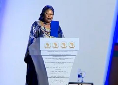 """رئيسة """"أفريقية حقوق الإنسان"""" تشكر السيسي وتشييد بدور المرأة المصرية"""