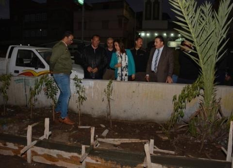"""محافظ دمياط تتفقد إنشاءات مأذنتي مسجد """"الرحمة"""" في رأس البر"""