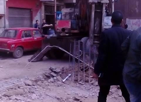 إيقاف أعمال بناء عقارات مخالفة في شبرا الخيمة