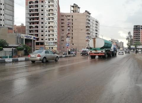 أمطار غزيرة في الغربية.. والمحافظ: نتابع شفط المياه ونزحها من الشوارع