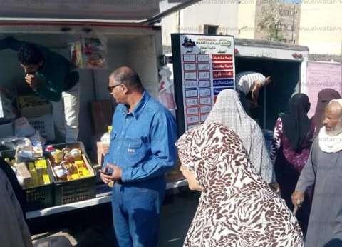 """""""تموين الإسماعيلية"""": سيارات متنقلة لبيع المواد الغذائية بأسعار مخفضة"""