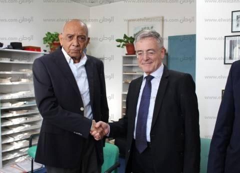 بالصور| السفير الألماني يزور مركز الدكتور محمد غنيم بجامعة المنصورة