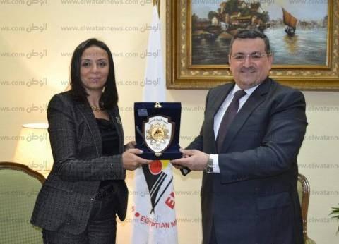 بالصور| أسامة هيكل يستقبل رئيسة المجلس القومي للمرأة
