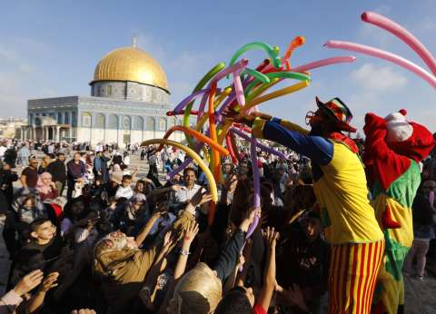 بالصور| 100 ألف فلسطيني في صلاة عيد الأضحى بالمسجد الأقصى
