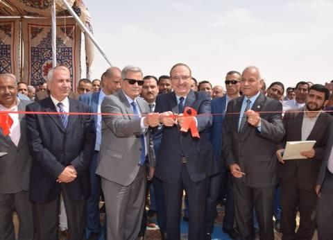 افتتاح أعمال إصلاح منظومة الصرف الصحي والصناعي ببياض العرب في بني سويف