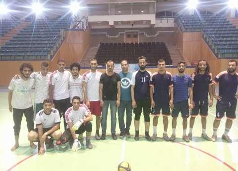 جامعة حلوان تنظم الدورة الرمضانية لخماسيات كرة القدم للطلاب