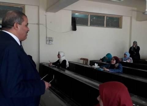 جولة للقائم بأعمال رئيس جامعة الأزهر على لجان الامتحانات