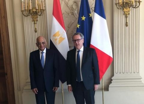 رئيس مجلس النواب يلتقي رئيس الجمعية الوطنية الفرنسية