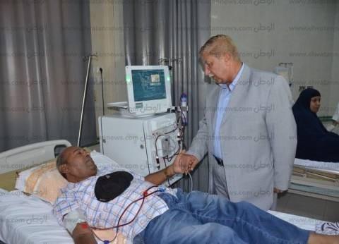 بالصور| محافظ الإسماعيلية يتابع انتظام سير العمل بمستشفي الصدر