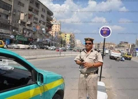 """""""مرور الغربية"""" يدشن لوحات إرشادية لمنع سير """"التوك توك"""" بشوارع المحلة"""