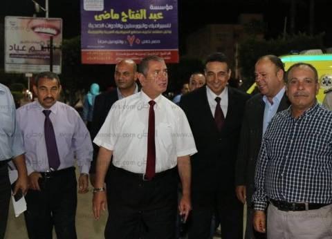 بالصور| محافظ كفر الشيخ يحتفل بفوز منتخب مصر مع الأهالي